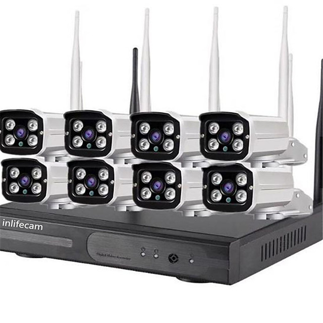 8CH 720P Trade Assurance 8Channel wifi camera 720p CCTV Wireless NVR kit for cctv kit 8 cameras