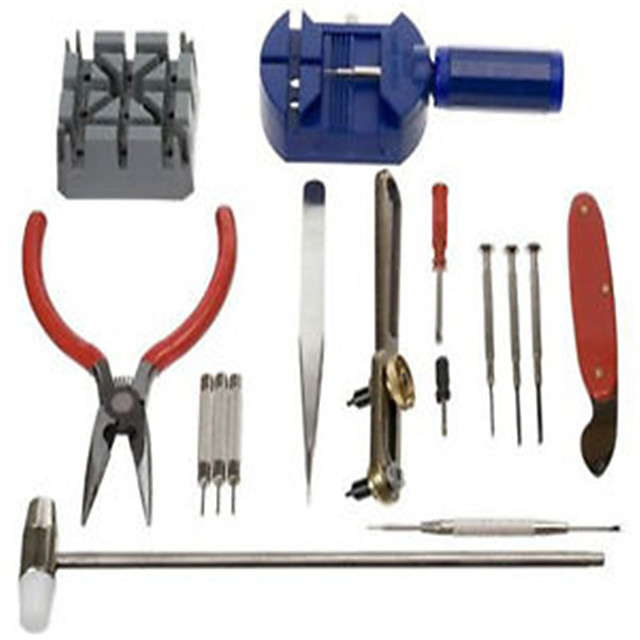Watch Repair Tool Kit Band Pin Strap Link Remover Back Opener 16pc