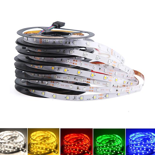 LOENDE LED Light Strips RGB Tiktok Lights 2Pack Not Waterproof 300leds5M SMD 2835 Flexible Diode Tape DC12V LED Ribbon 60LEDM Led strip for Home Decoration