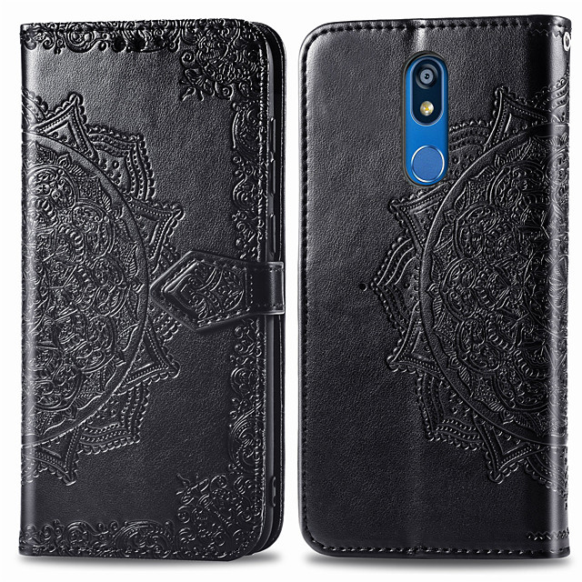 Case For LG LG K40 Card Holder / Flip Full Body Cases Solid Colored Hard PU Leather for LG K40