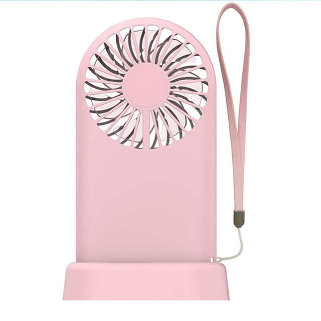 Color : Pink Wuty Silent Small Hanging Neck Fan Portable Portable Lazy Fan USB Charging Mini Fan Student Dormitory Bed Fan Radiating