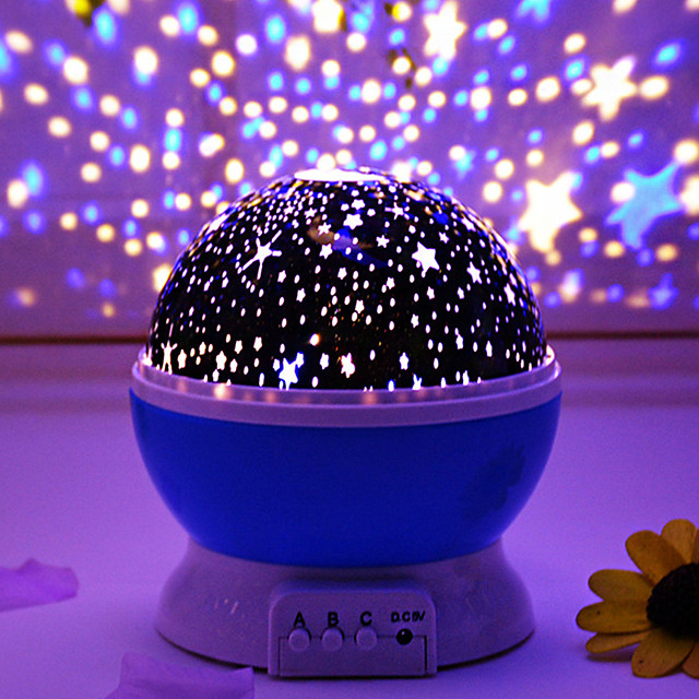 Rotatable Starry Projector Nebula Projector Night Light Tiktok Star Light LED Intelligent Projection Lamp for Room USB Charger or 4*AAA Battery Romantic Gift