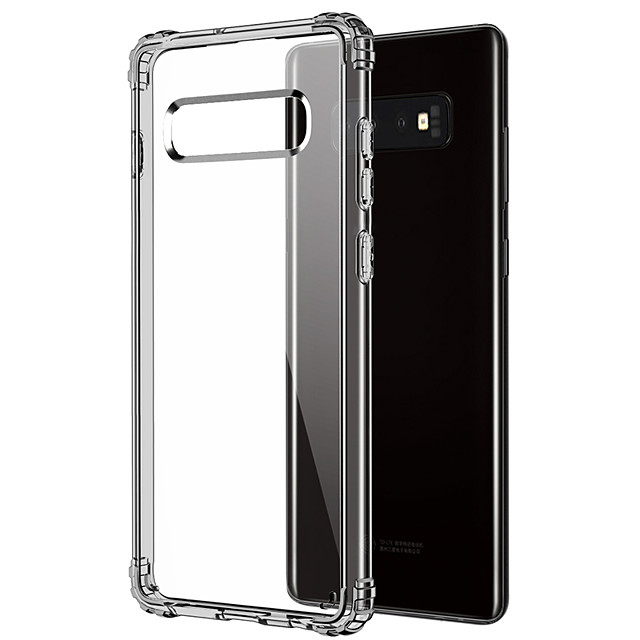 Case For Samsung Galaxy Galaxy S10 Shockproof / Transparent Back Cover Transparent Soft TPU