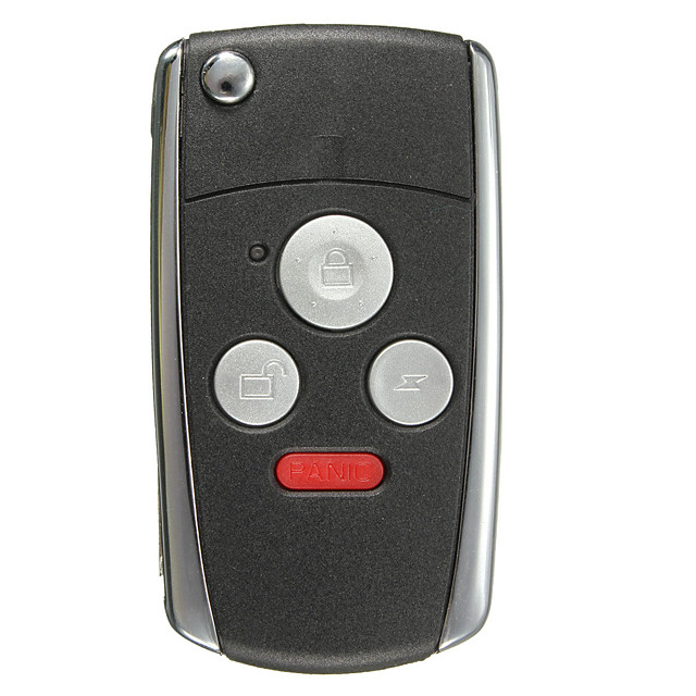 Uncut Flip Folding Remote Key Keyless Shell Case For Honda Accord 3 Buttons Panic