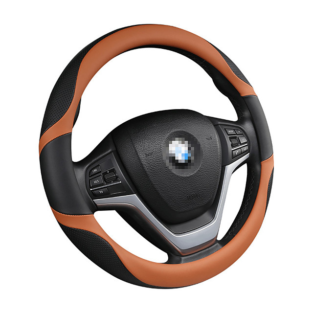 Steering Wheel Covers Genuine Leather / Leather / leatherette 38cm Black / Red / Black / White / Black / Blue For universal General Motors All years
