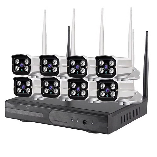 8CH 1080P H.265 HD Wireless NVR Kit Security System Wifi Ip Kit