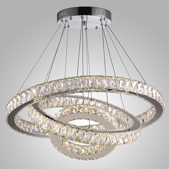 1 Light Dimmable Led Crystal Hanging