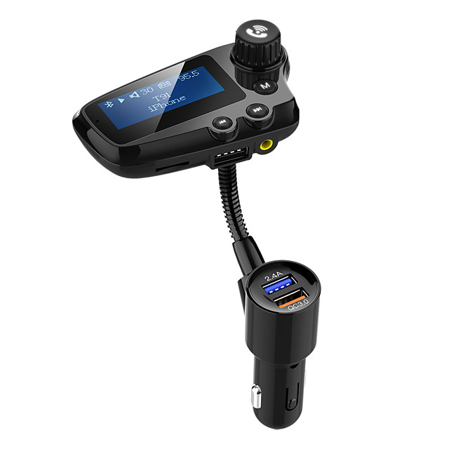 YuanYuanBenBen Bluetooth 5.0 FM Transmitter Car Handsfree Bluetooth / QC 3.0 / MP3 Car