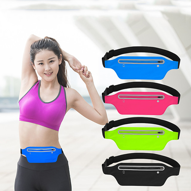 Case For Universal Card Holder Waist Bag Running Belt Waist Pack  Water Resistant Runners Belt Fanny Pack for Hiking Fitness / Waistpack Solid Colored Soft  for Universal 5.5 inch
