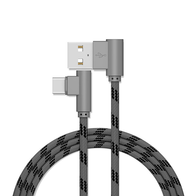 Type-C Cable 1.0m(3Ft) Gold Plated / Quick Charge Aluminum / Stainless steel USB Cable Adapter For Samsung / Huawei / Xiaomi