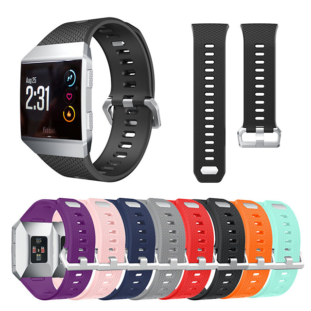 Watch Band for Fitbit ionic Fitbit Classic Buckle Silicone Wrist Strap