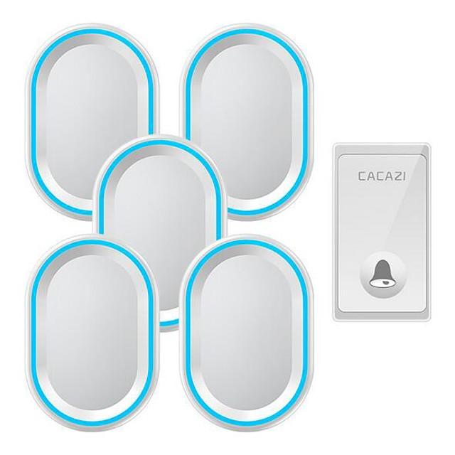 Wireless intelligent remote control doorbell Home self-powered elderly wireless pager One for five doorbells without battery
