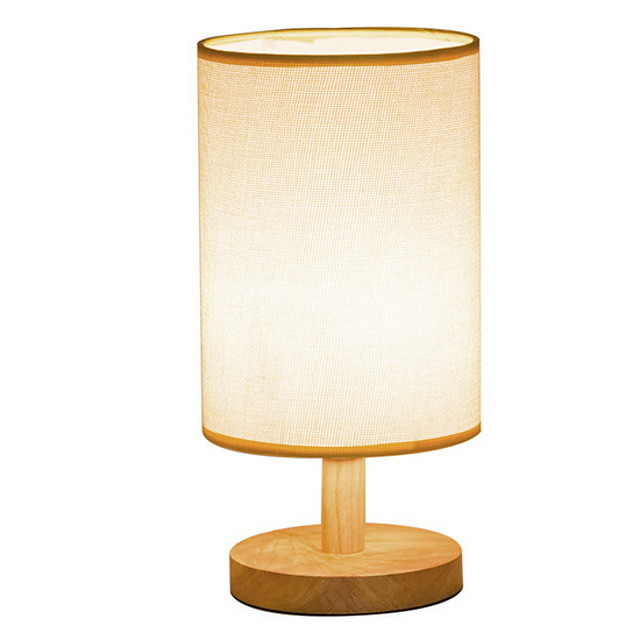 Table Lamp Modern Contemporary For Bedroom Study Room Office Wood Bamboo 220V