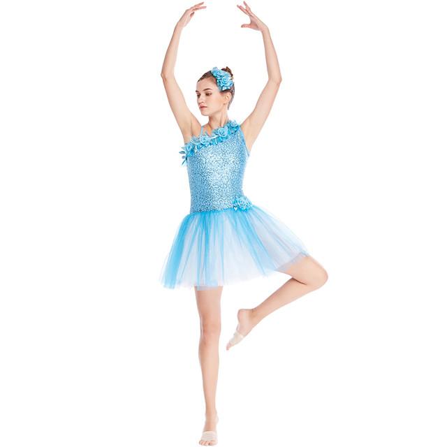 Ballett Kleid geschmuckt mit der Blumen Plissee Pailetten ...