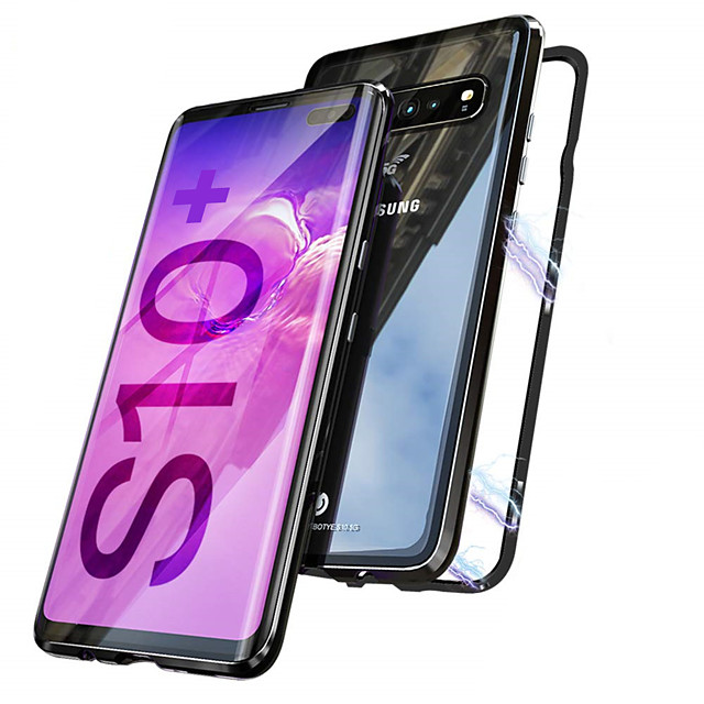Magnetic Double Sided Case For Samsung Galaxy Galaxy S10 / Galaxy S10 Plus Magnetic Full Body Cases Transparent Hard Metal