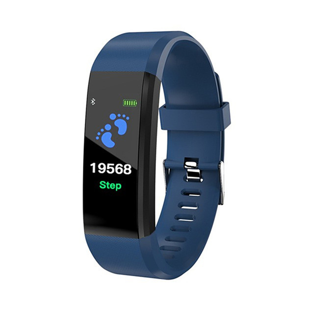 ID115 PLUS Smart Wristband Bluetooth Fitness Tracker Support Notify/ Heart Rate Monitor Waterproof Sports Smartwatch Compitable Samsung/ Iphone/ Android Phones