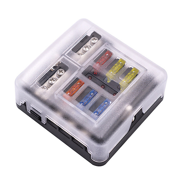 6 Way Blade Fuse Holder Box Block Case for 32V Car Truck Boat Marine Bus Automotive