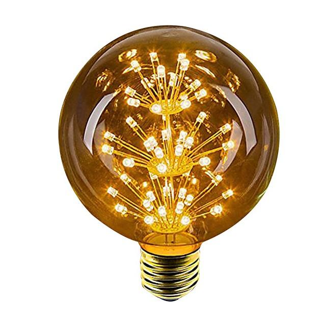 1pc 2.5 W 100 lm E26 / E27 LED Globe Bulbs 49 LED Beads Dip LED Decorative Yellow 220-240 V / 1 pc / RoHS