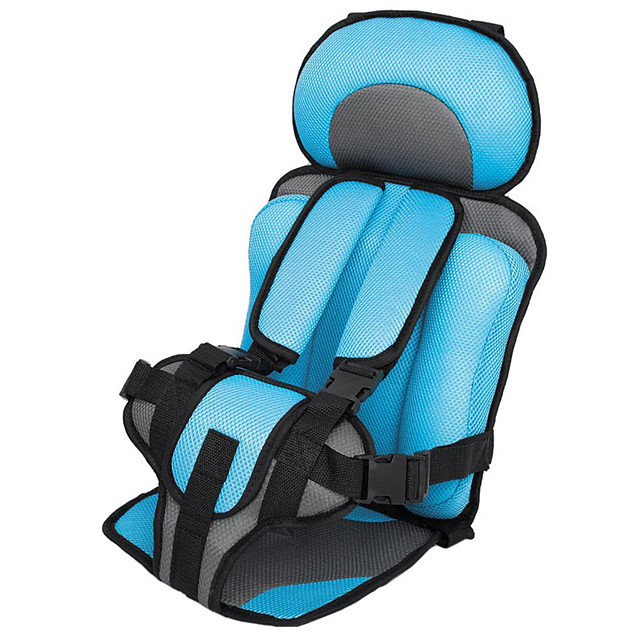 Car Safety Seat Adjustable Portable Convenient Breathable Polyester Fabric Thickening Baby Safety Seat Childen Protect Seat (3~6 years old)