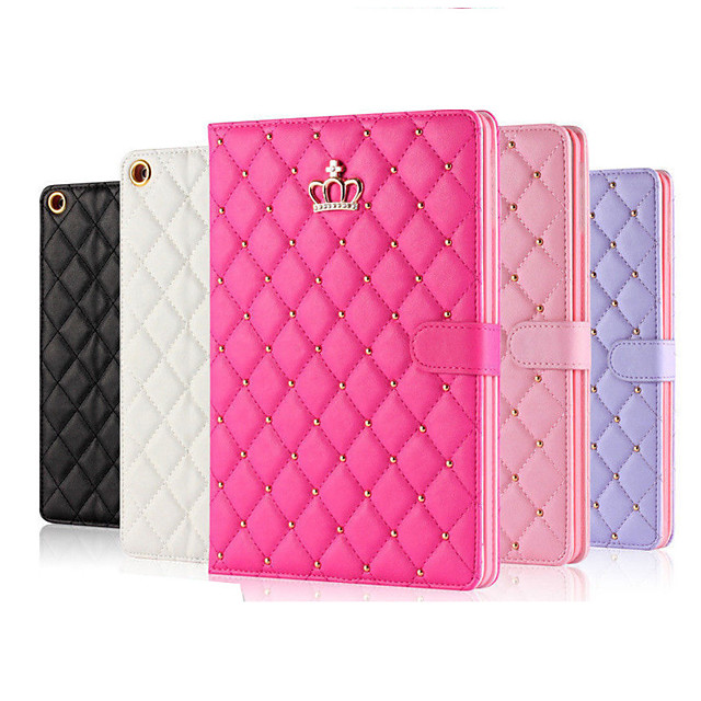 Phone Case For Apple Full Body Case iPad Air iPad 4/3/2 iPad Mini 3/2/1 iPad Mini 4 iPad (2018) iPad Mini 5 iPad Air 2 iPad (2017) Auto Sleep / Wake Up Solid Colored Soft PU Leather