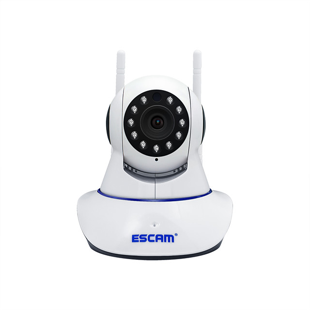 Escam G01 HD 1080P PTZ CMOS Pan / Tilt 200WDual Antenna Wifi IP Camera Indoor Support 128 GB TF Card/ PT / Night Vision/onvif Two-Way Audio Motion Detection Home Security Camera