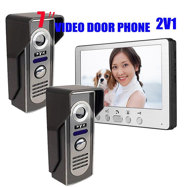 815M21 Ultra-thin 7-inch wired video doorbell HD villa one indoor unit two outdoor unit video intercom outdoor unit night vision rain unlock function
