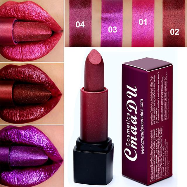Brand CmaaDu Sexy 4 Color Diamond Pearlescent Lipstick Glitter Lip Gloss Cosmetics Waterproof Long-Lasting Lip Makeup.