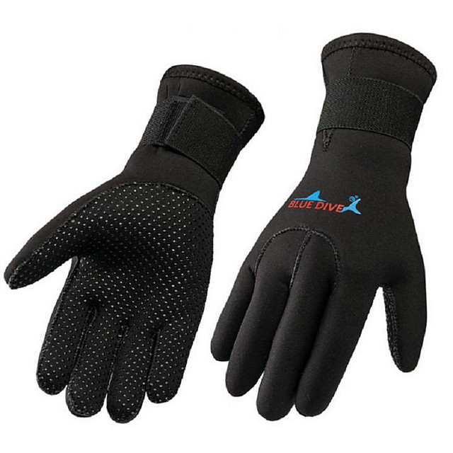 Bluedive Diving Gloves Aquatic Gloves 3mm Neoprene Full Finger Gloves Thermal Warm Warm Quick Dry Swimming Diving Surfing