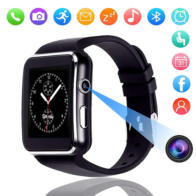X6 Smart Watch BT Fitness Tracker Support Notify/ SIM-card/ Heart Rate Monitor Sports Smartwatch Compatible Samsung/ Android/ Iphone
