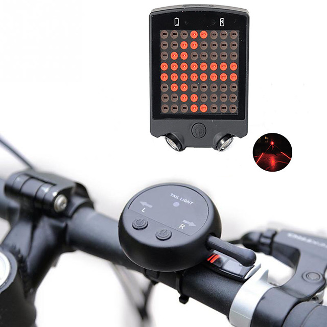 GOLDEN LED TAIL Front or Rear Light FLASH MODE Mountain Bike Waterproof Bright