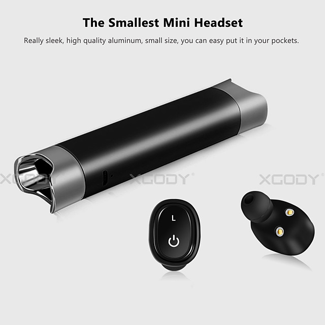 Bluetooth Headphone Mini Ture Wireless Earbuds Waterproof In-ear Stereo Headset