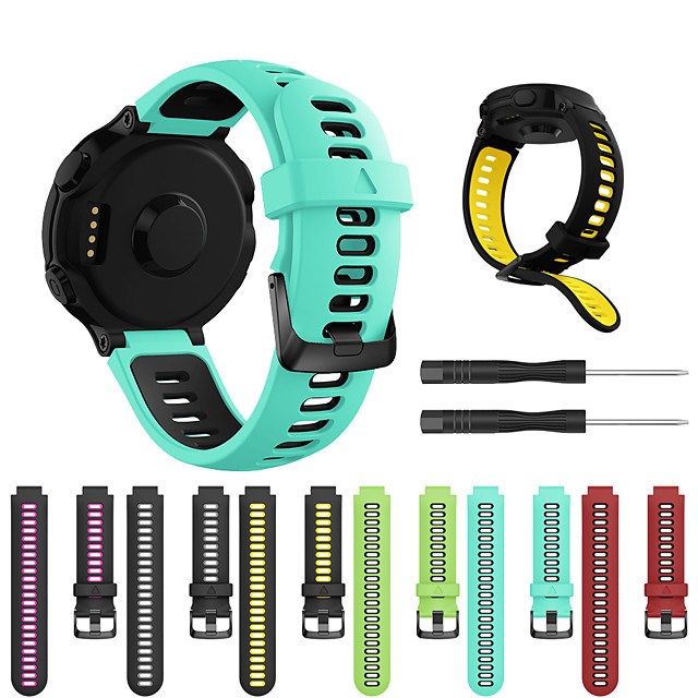 Smartwatch Band for Forerunner235/630/735/735XT/220/230/620 / ApproachS20/S5/S6 Garmin Strap Silicone Sport Fashion Soft Band