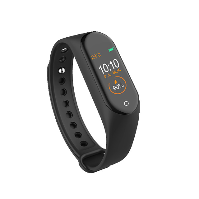 Kimlink M4 Men Women Smartwatch Android iOS Bluetooth Waterproof Touch Screen Heart Rate Monitor Blood Pressure Measurement Sports Pedometer Call Reminder Activity Tracker Sleep Tracker Sedentary