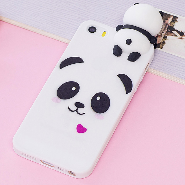 Case For Apple iPhone XR / iPhone XS Max / iPhone X Shockproof / Dustproof / Water Resistant Back Cover Animal / Cartoon / Panda Soft TPU