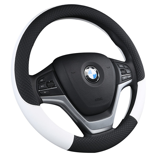 Steering Wheel Covers Leather / leatherette 38cm Black / Yellow / Black / Purple For universal General Motors All years