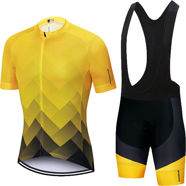 XSU723 Road Mens Racing MTB Cycling Short Sleeve Jersey and bib Shorts