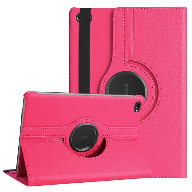 Case For Huawei Huawei Mediapad M5 Lite 10 / Huawei MediaPad M5 10 (Pro) / Huawei MediaPad M5 10 360° Rotation / Shockproof / with Stand Full Body Cases Solid Colored Hard PU Leather
