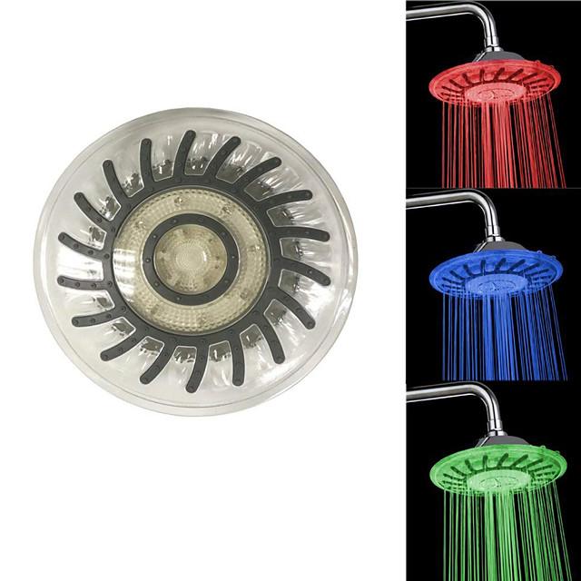 Contemporary Rain Shower Chrome / Plastic Feature - LED / Shower / Color Gradient, Shower Head / Rainfall