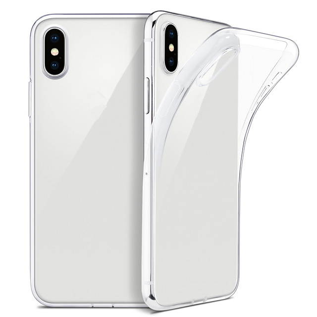 Case For iPhone XS Max  XS Slim Clear Soft TPU Cover Support Wireless Charging for iPhone XR 8 Plus 8 7 Plus 7 6 Plus 6