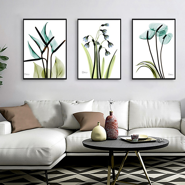 Framed Art Print Framed Set - Abstract Floral / Botanical PS Illustration Wall Art