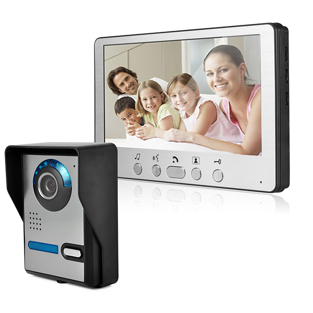 Ultra-thin 7-inch wired video doorbell HD villa video intercom outdoor unit angle adjustable 815FA11