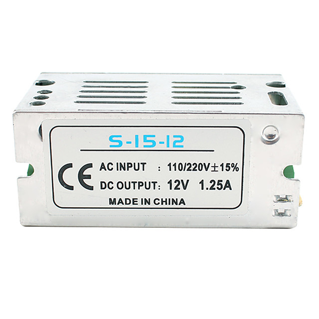 1pc Light Strip Light String Video Monitoring Switching Power Supply Input AC85-265V Output 12V 15W