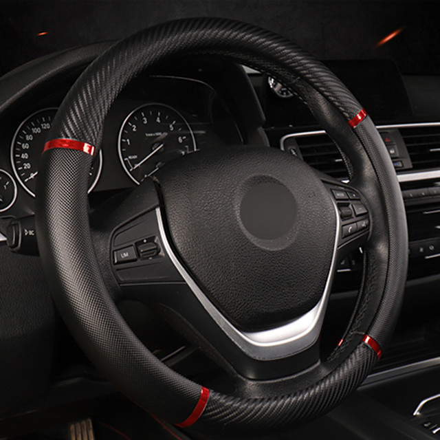 Universal Car Steering Wheel Cover Artificial Leather Comfortable Non-slip Automobile Steering-Wheel Cover