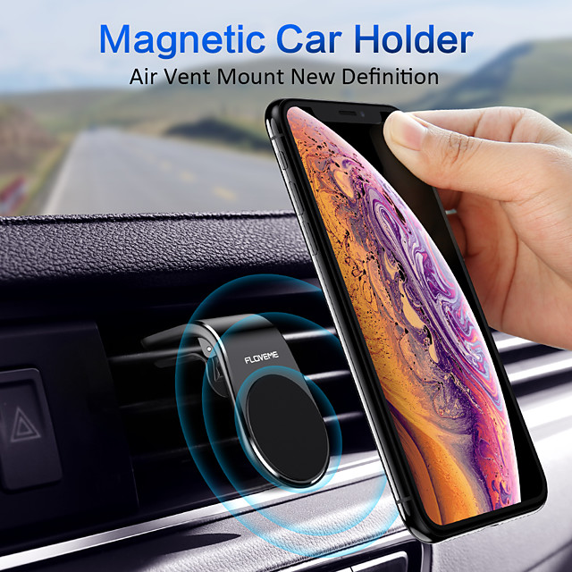 FLOVEME Magnetic Phone Car Mount  Magnets Hands Free Universal Smart GPS Cell Phone Holder for Car Air Vent Mount for iPhone 11 Pro Max XR XS X 8 7 Plus Samsung Galaxy S10 S9 S8 Note 10