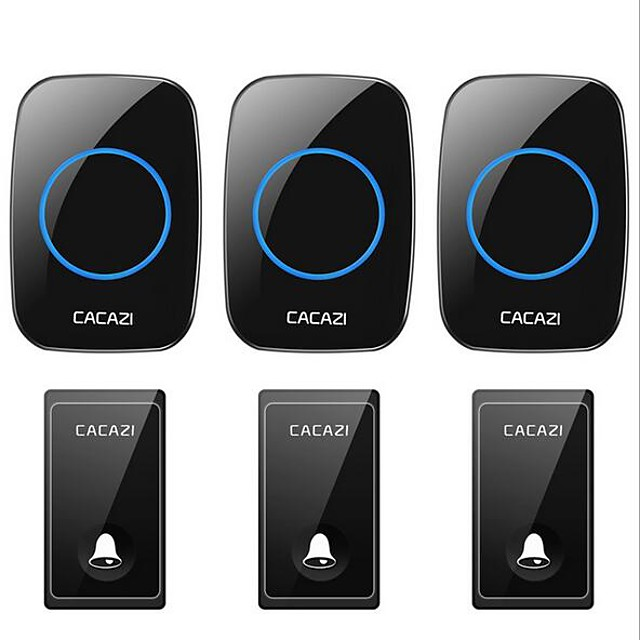 Self-powered doorbell wireless home doorbell Three-to-three battery-free waterproof learning code doorbell