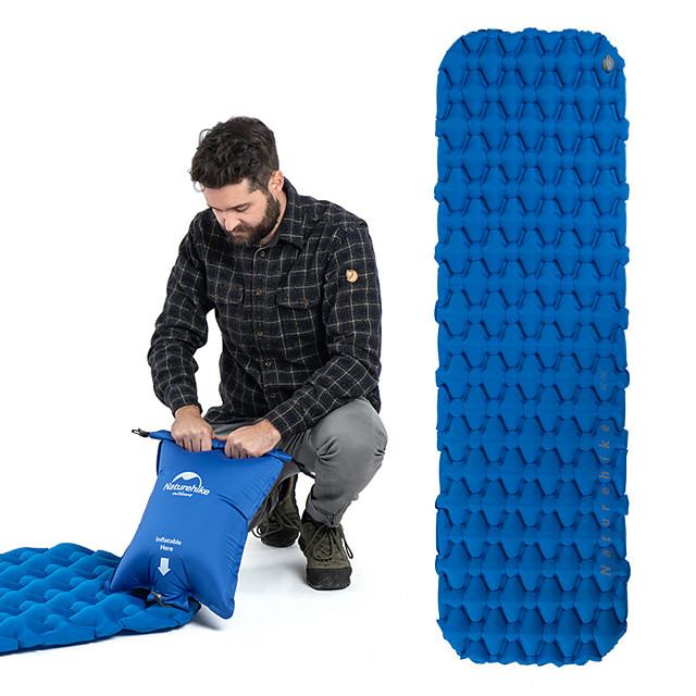 Naturehike Inflatable Sleeping Pad Air Pad Outdoor Camping Lightweight Rain Waterproof High Elasticity TPU Nylon 59*195*6.5 cm Camping / Hiking / Caving for 1 person Orange Blue
