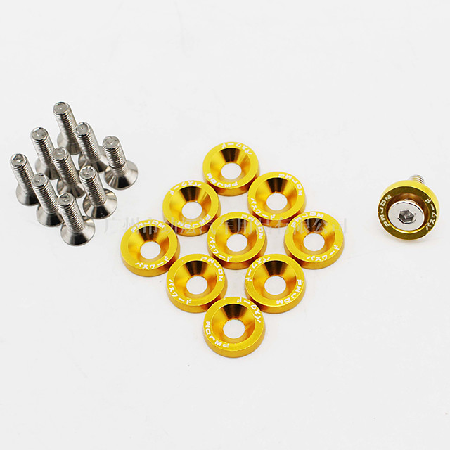 10pairs Car Refit Multi-colors Auto Car License Plate Frame Bolts Screws Fasteners