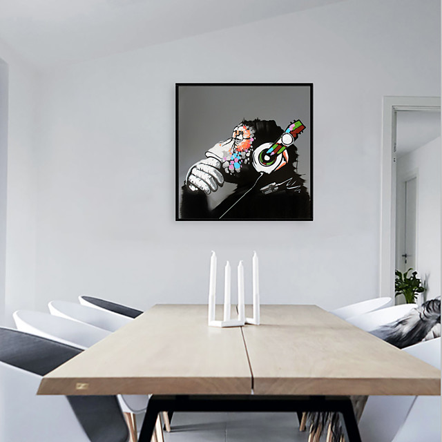 Framed Art Print Framed Set - Animals Pop Art PS Oil Painting Wall Art