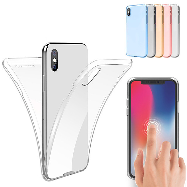 Case For iPhone XS Max XS 360 Full Body TPU Case For iPhone XR 8 Plus 8 7 Plus 7 6 Plus 6