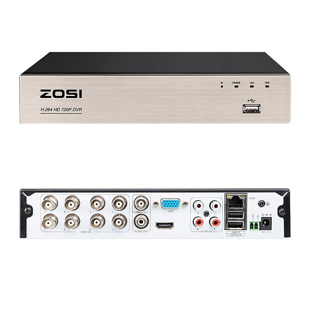 видеорегистратор ZOSI 8CH 720P DVR для мобильных устройств удаленного мониторинга 8-канального смартфона DVR&Легкий удаленный доступ к компьютеру 4 в 1 многофункциональный цифровой видеомагнитофон